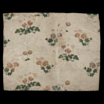 Portion of Bedspread. Chinese