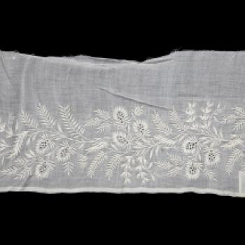 Embroidered Indian muslin